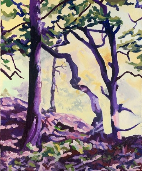 Purple Trees One:   Copyright 2012.  All rights reserved Hannah Leach